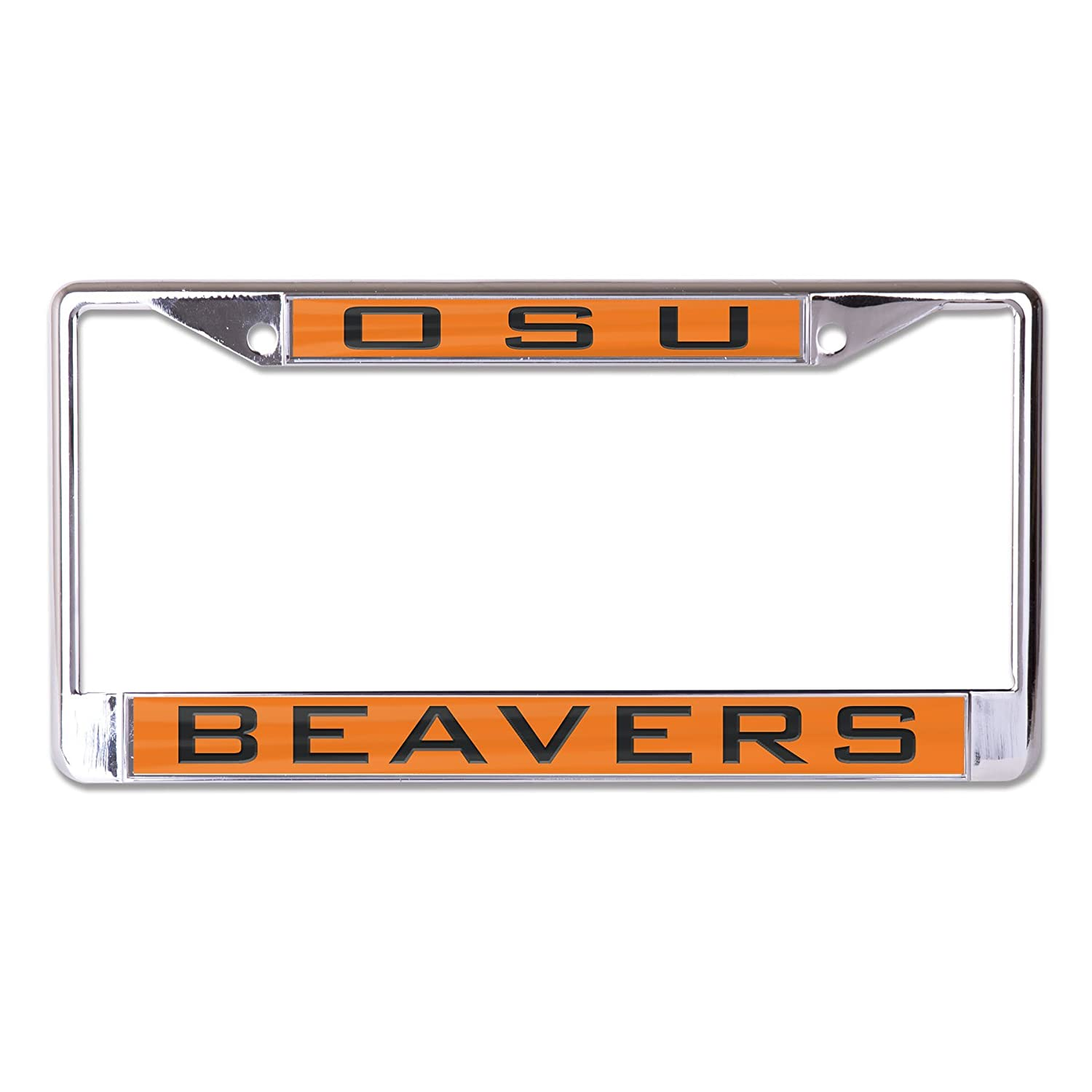 WinCraft NCAA Oregon State Beavers Inlaid Metal License Plate Frame 2-Tag Corners