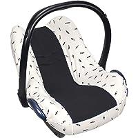 126 824 Dooky Seat Cover 0+ Black Feather Cubierta para el asiento de coche del bebé (para sistema de cinturón de 3 y 5…