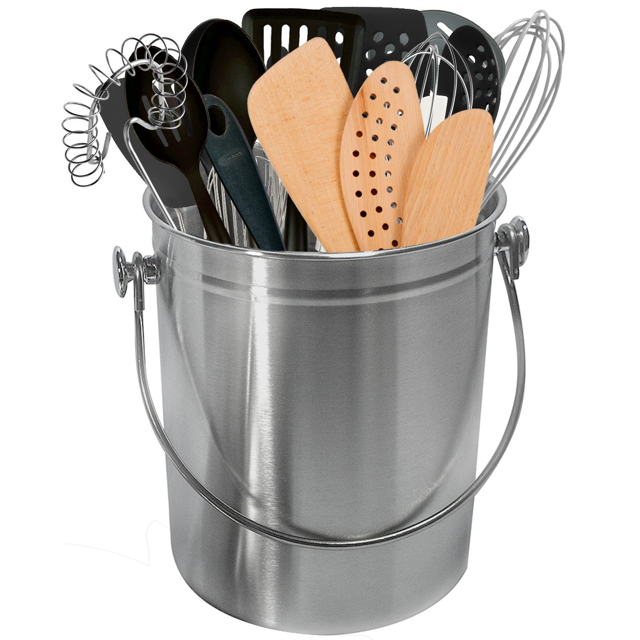 Sorbus Utensil Holder Caddy Crock to Organize Kitchen Tools - Great For Kitchen Accessories and Multi-Purpose – 1 Gallon Capacity (Copper) UTN-BIN-CPA
