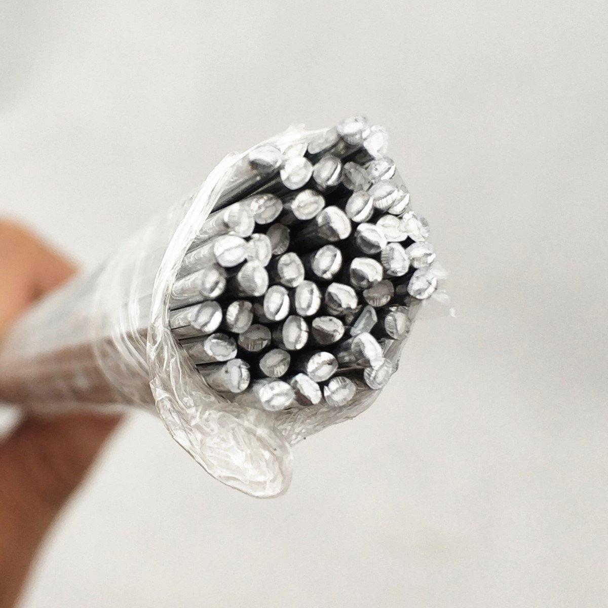 Electrodos de soldadura de aluminio, alambre de soldadura de baja temperatura, 500 x 2,0 mm, varillas de soldadura de reparación de aluminio para aire ...