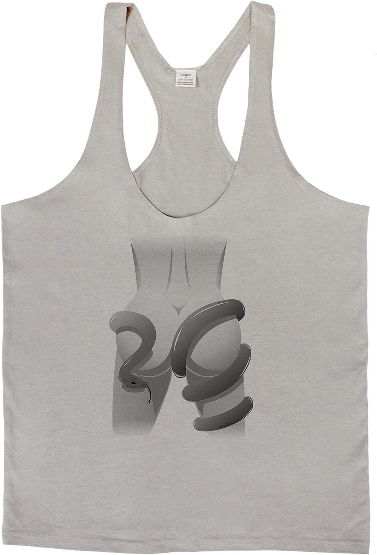 TooLoud Anaconda Design Grayscale Muscle Shirt