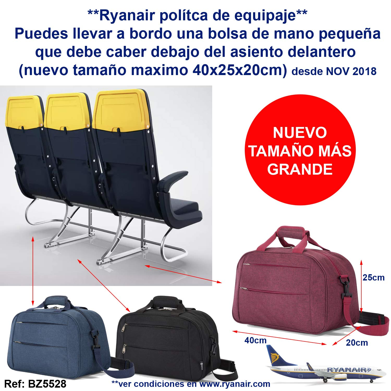 Benzi Bolsa de Viaje 40 x 25 x 20 cm Tamaño Equipaje de Mano ...
