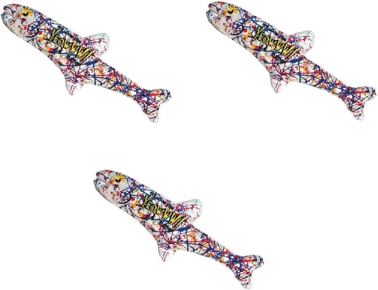 Yeowww! Pollock Fish Catnip Toy, 3 Pack