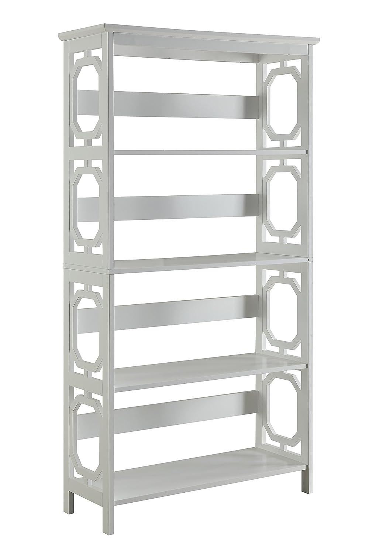 Convenience Concepts Omega 5-Tier Bookcase, White