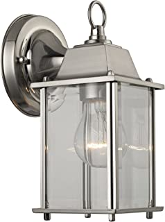 Thomas Lighting 1-light Outdoor Wall Sconce Brushed Nickel  sc 1 st  Amazon.com & Progress Lighting P5607-09 Wall Lantern with Clear Glass Brushed ... azcodes.com