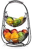 Saganizer 2 Tier Fruit Baskets fruit basket Bronze