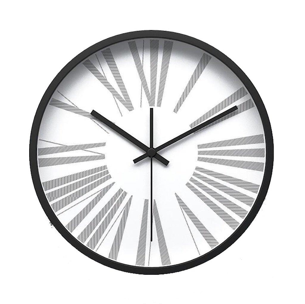 ホーム壁のテーブルシンプルなリビングルーム創造的なサイレント時計の腕時計モノクロのローマ数字ミニマルウォールクロック (色 : J j) B07F1Z4GTFJ j