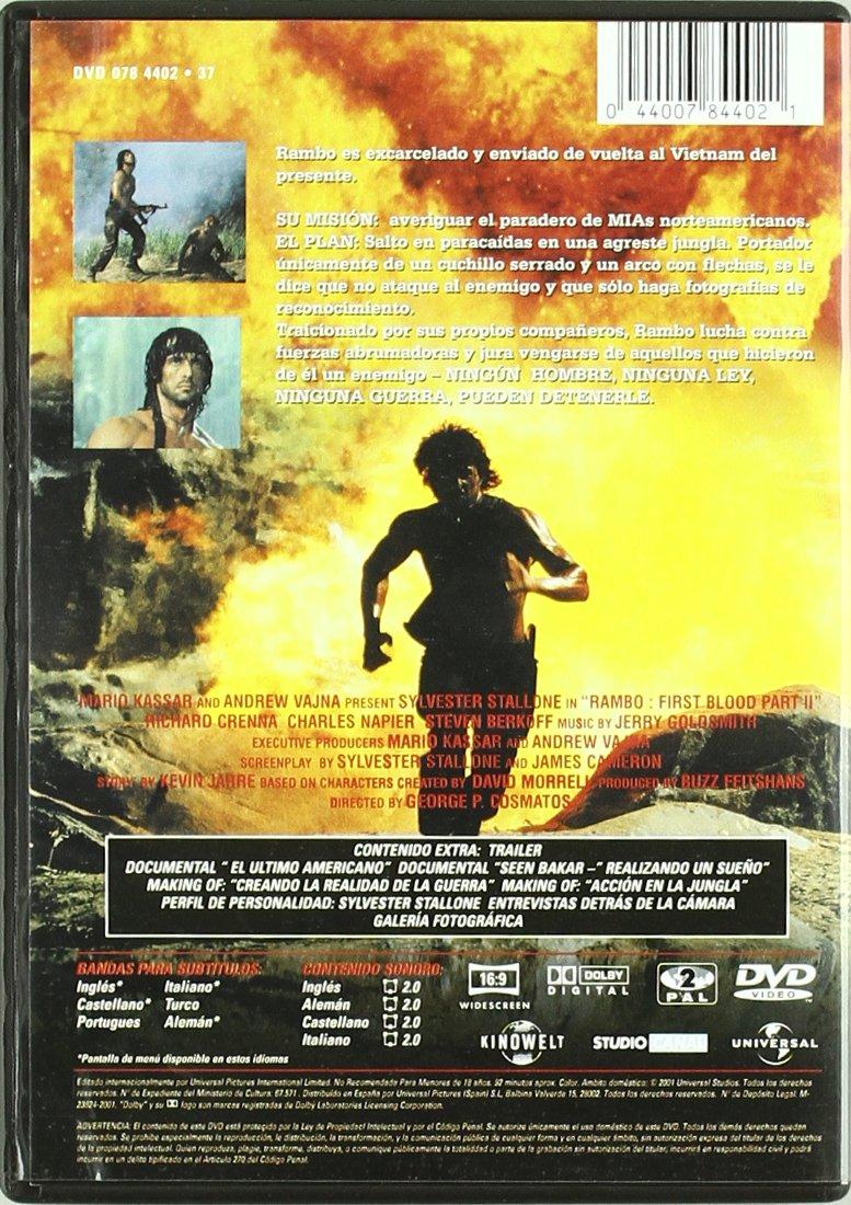 Amazon.com: Rambo 2 - La Vendetta: sylvester stallone ...