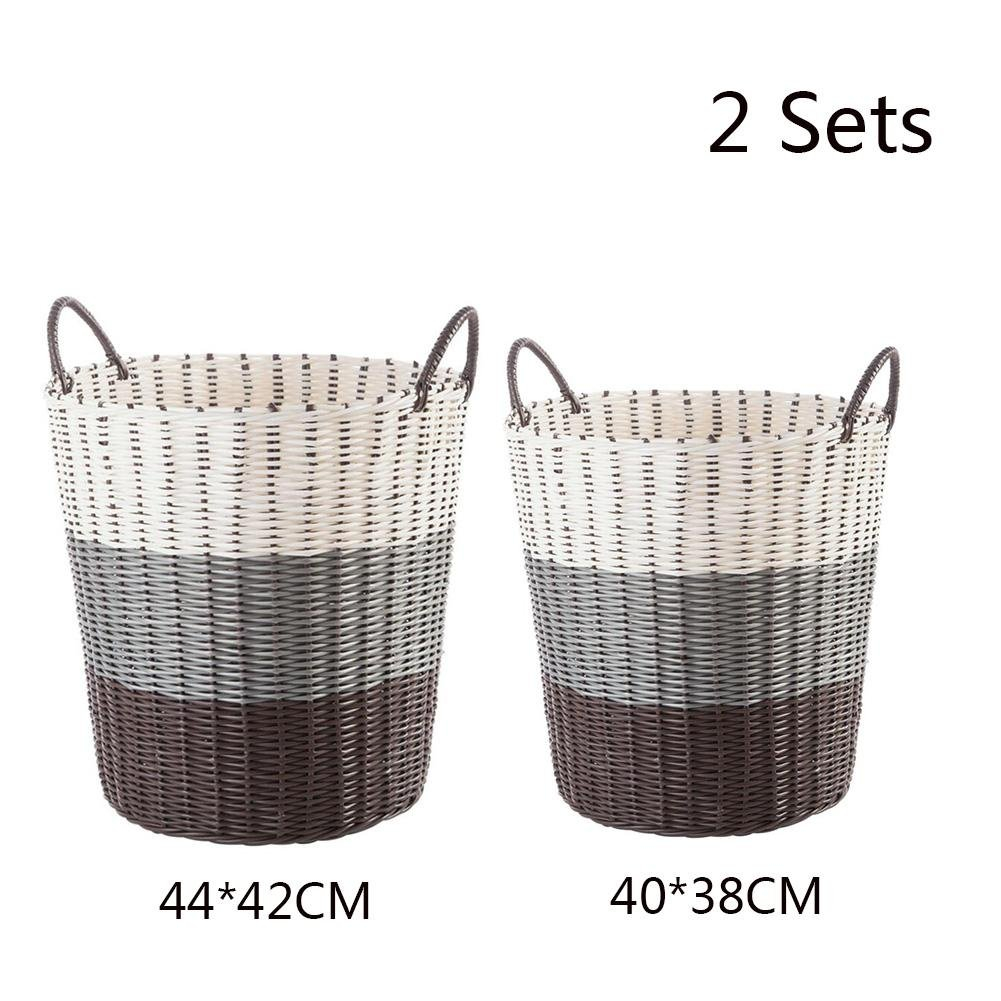 TSAR003 European And American Style Pvc Rattan Style Laundry Hamper Or Basket Dirty Clothes With A Handle , 5