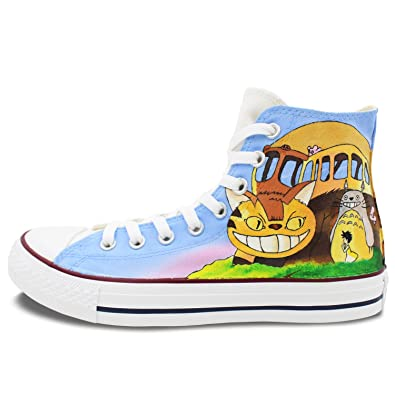 705a1384ab3b ... sweden converse all star painted shoes men women totoro shoes custom  design gifts shoes high top