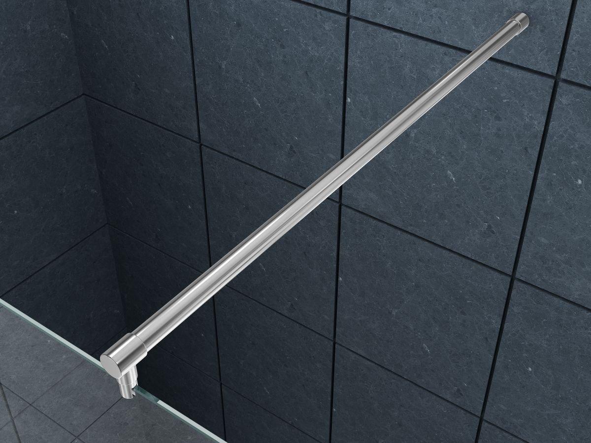 150 cm Runde Hochwertige verchromte Stabilisierungsstange, Haltestange fü r Duschtrennwand, Duschwand, Duschabtrennung Dü sseldorf home-systeme