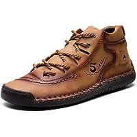 Zapatos Hombre Invierno Planos Mocasines Zapatos de Cuero Casual Fur Forro Cálido Botines Senderismo Trekking Aire Libre…