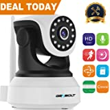 Wireless WiFi IP Security Camera - GENBOLT Indoor Dog Camera Night Vision Pan Tilt CCTV Spy Camera 720P for Home Surveillance GB102S (2019 New Design), Two Way Audio Motion Detection Remote Security Webcam,Baby Monitor Including 40 Feet Night Vision, Free Mount Brackets, 64GB Storage(Max Support), 3 dBi Antenna, 355 Degree View Angle, 2 Megapixel Lens, Heavy-Duty Housing, 1000+ Instagram Likes, 24-Hour Customer Support, 30-Day Money Back Guaranteed, 2-Year Warranty