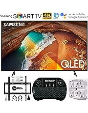 "$679 Get Samsung QN49Q60RA 49"" Q60 QLED Smart 4K UHD TV (2019 Model) - (Renewed) w/Flat Wall Mount Kit Bundle for 45-90 TVs + 2.4GHz Wireless Backlit Keyboard Smart Remote + 6-Outlet Surge Adapter"