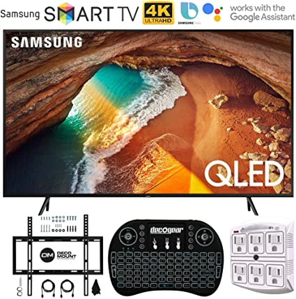 Amazon Com Samsung Qn65q60ra 65 Q60 Qled Smart 4k Uhd Tv With 1
