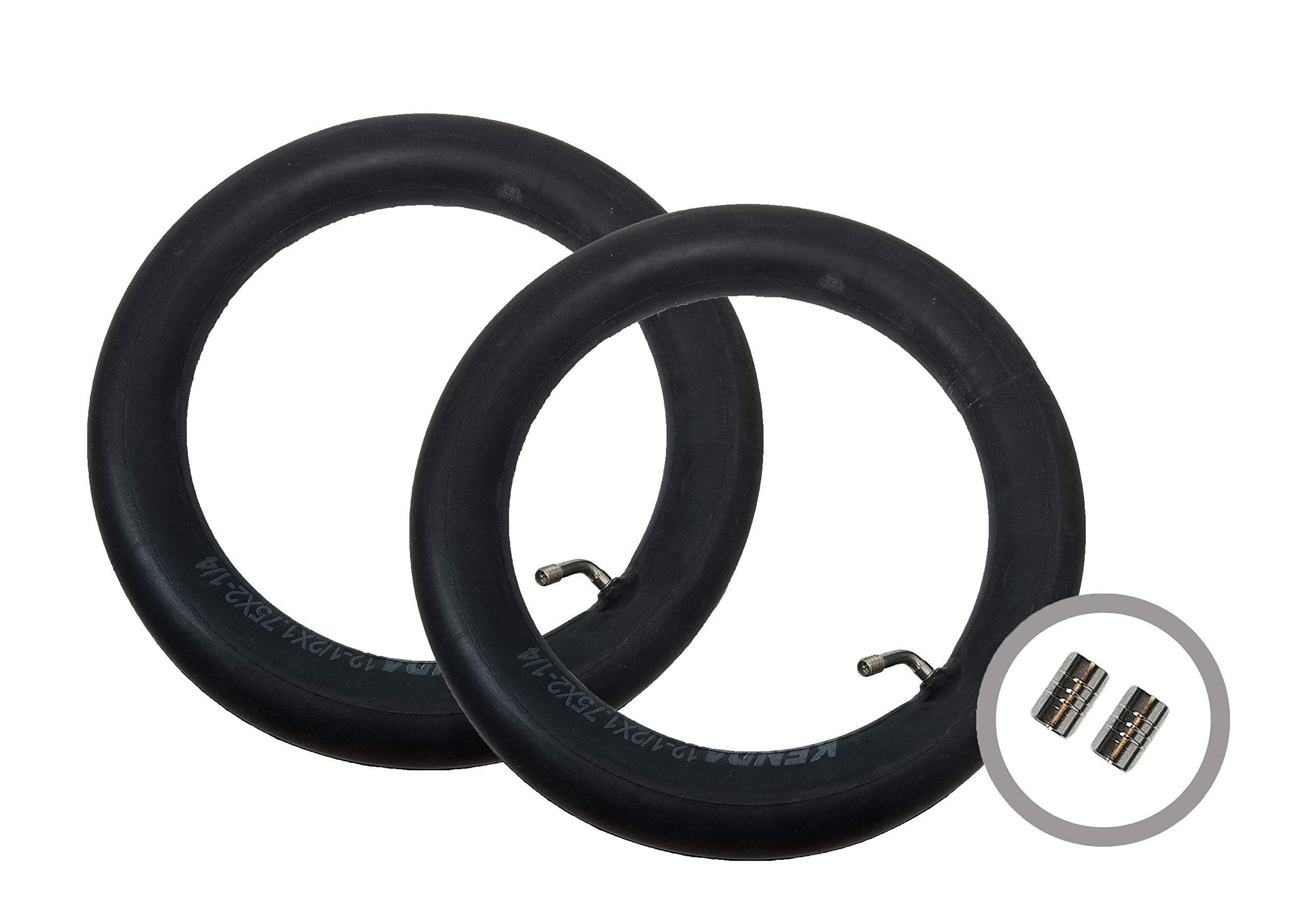 2 x JEEP LIBERTY Stroller Pushchair Inner Tubes 12 1/2'' - 45º Bent/Angled Valve + FREE Shipping + FREE Upgraded Skyscape Metal Valve Caps (Worth $4.99)