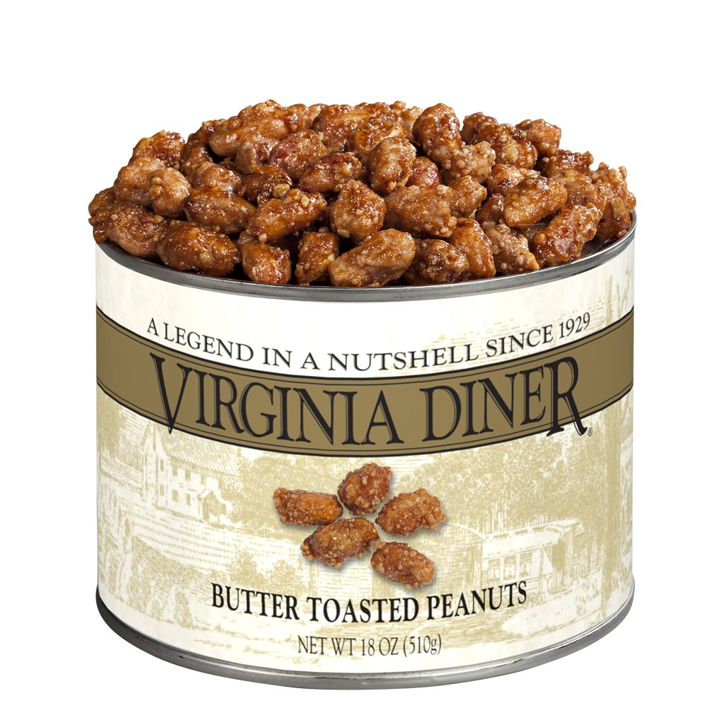 Virginia Diner Peanuts, Butter Toasted, 18-Ounce