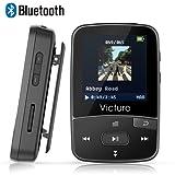Victure Lettore MP3 Bluetooth con Clip 8GB MP3 Player con Radio FM, MP3 Player per Sport e Corsa, sostegno SD USB TF Fino alla Carta di 64GB