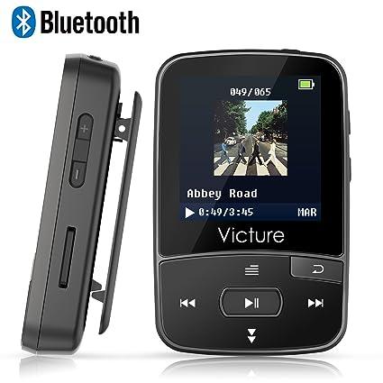 Victure Lettore MP3 Bluetooth con Clip 8GB MP3 Player con Radio FM ... fef7e08ecbc6