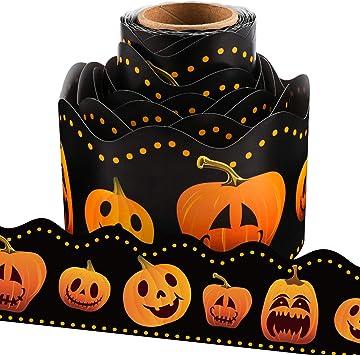 Borde De Tablero Festoneado Con Diseño De Calabaza De Halloween Para Decoración De Salón De Clases 35 8 In Office Products