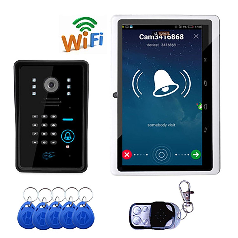 LHKAVE Multifunktions-Wasserdichte Drahtlose Intelligente Frau Video-Türklingel, Drahtlose Intelligente Türklingel, 5 Benutzer des Handys