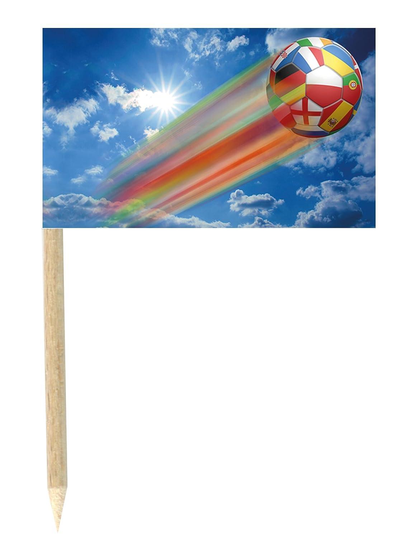 Generique - Lote de 50 Mini-Banderas Palillos balón fugaz 3x5 cm ...