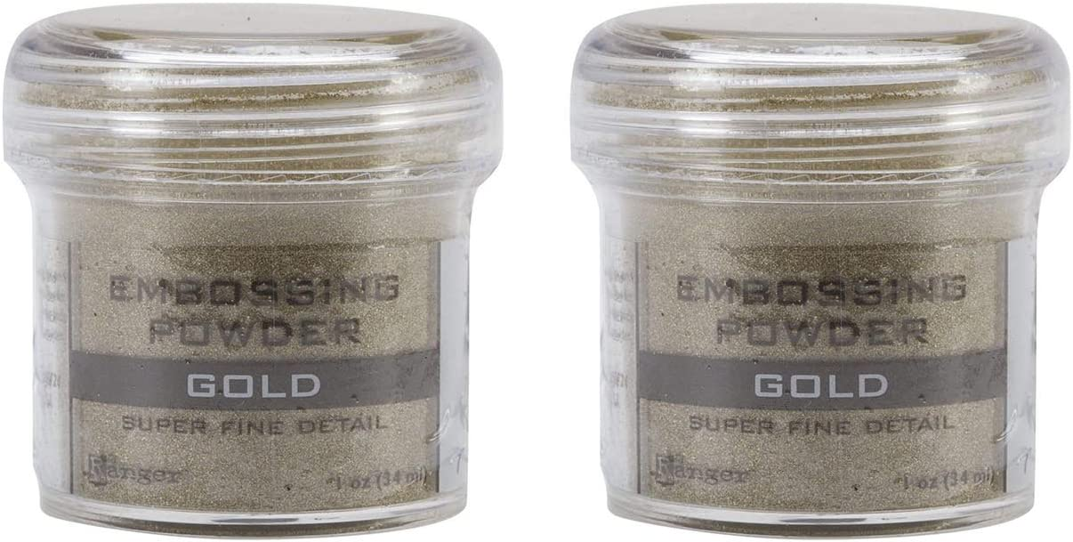 2-Pack - Ranger Embossing Powder, Super Fine Gold