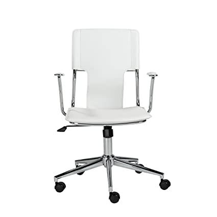 amazon com euro style terry adjustable office chair white