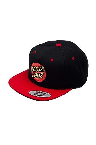 Gorro Snapback Santa Cruz Classic Rojo-Negro (Default, Negro ...