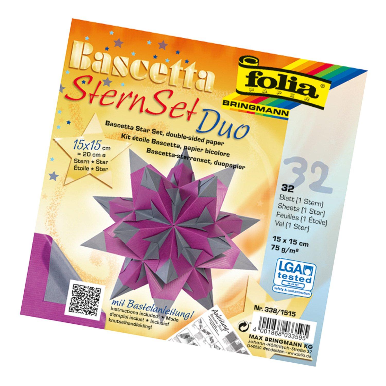 folia, set per stella fai da te Bascetta, di colore blu, codice articolo 836/3030 800/3030