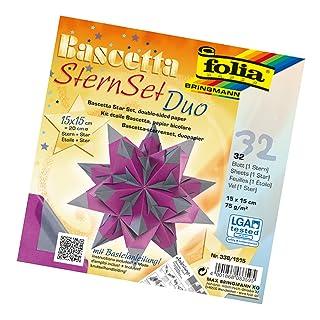 Folia, Set per Stella Fai da Te Bascetta, di Colore Blu, codice Articolo 836/3030