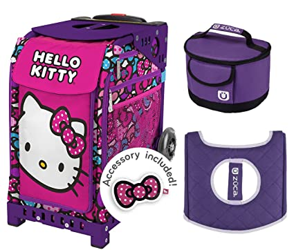 Image Unavailable. Image not available for. Color  Zuca Hello Kitty Bow  Party Sport Bag   Purple Frame w Lunchbox and Seat Cushion 1df7e21edfb0d