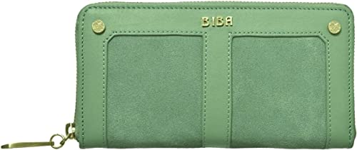 Biba Green Ruby Zip - Monedero de Piel Verde Verde: Amazon.es: Zapatos y complementos