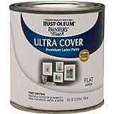 Rust-Oleum 1990730 Painter's Touch Latex Paint, Half Pint, Flat White