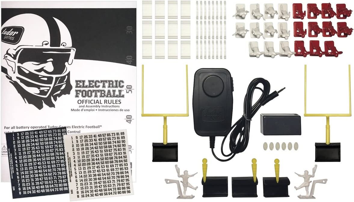 Tudor Games' electric football game contents