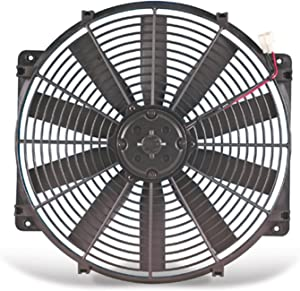 "Flex-a-lite 112 Black 12"" Trimline Electric Fan (reversible)"