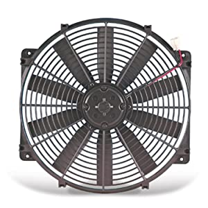 "Flex-a-lite 114 Black 14"" Trimline Electric Fan (reversible)"
