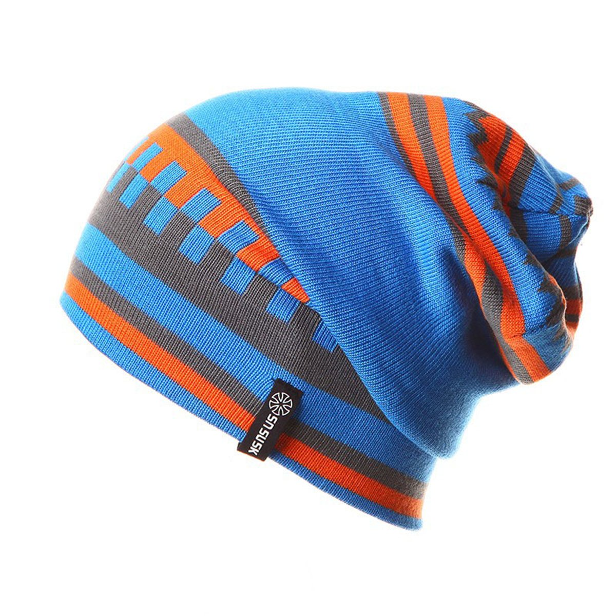 Apparelsales Mens Winter Knitting Ski Hat Snow Cap Beanies Headwear Lindaeshop