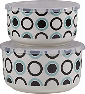Set of 2 Microwaveable Bowls with Lids by CIROA   Spot Design Microwave Me