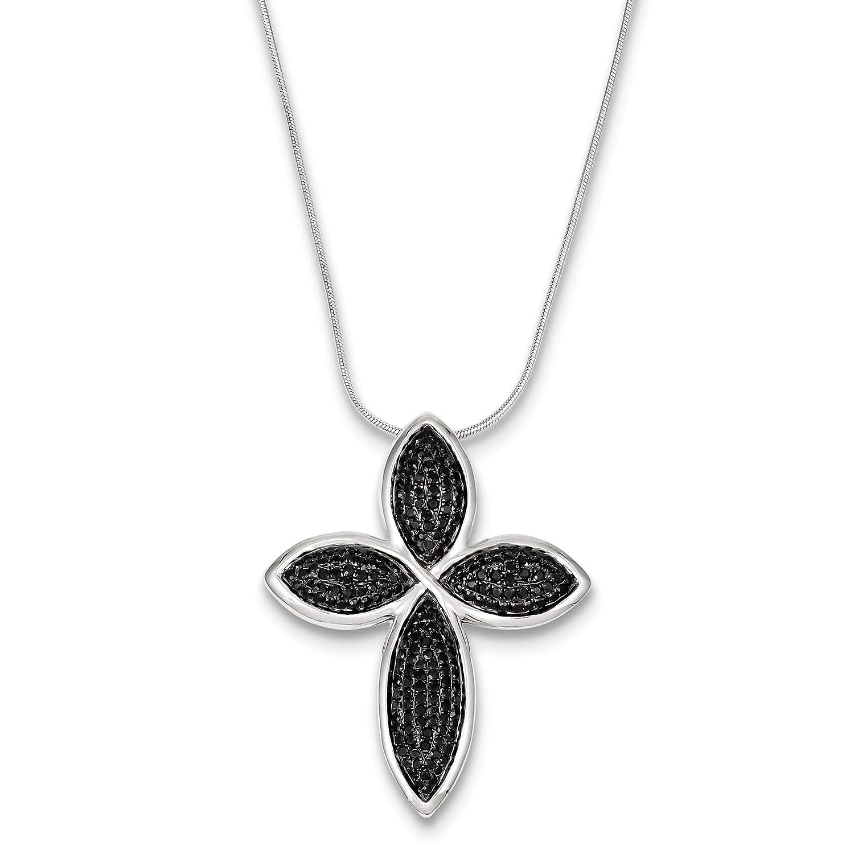 Bonyak Jewelry Sterling Silver /& CZ Cross Necklace