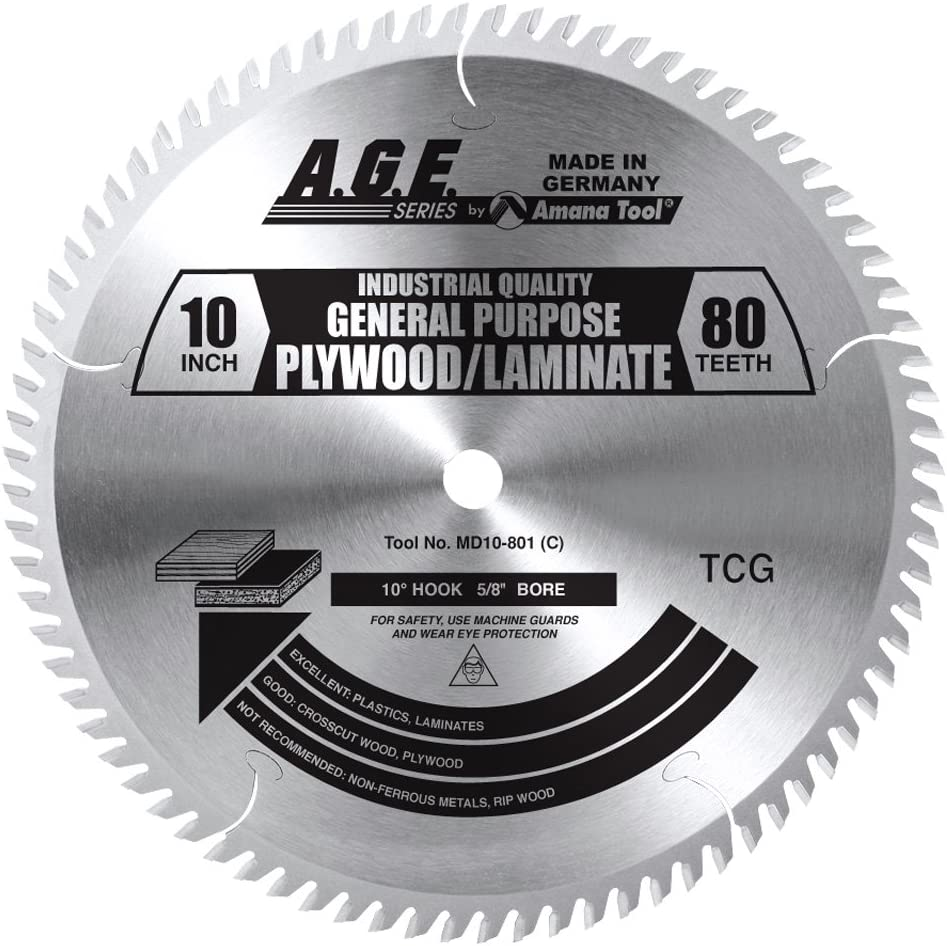 """Brand New Amana AGE series 10/"""" Saw Blade MD10-601 10/"""" x 60T  5//8 Bore"""