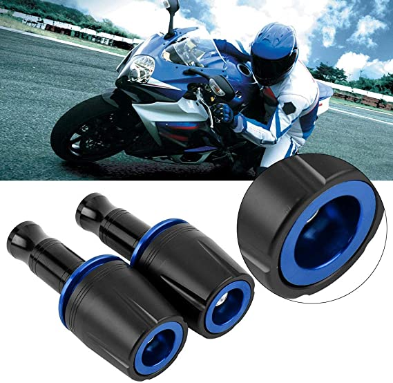 Duokon 2Pcs Motorcycle Frame Sliders,Aluminum Alloy Universal Slider Frame Sliders Crash Pad Protector With 10mm Screw for Z125 Blue