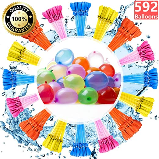 Water Balloons for Kids Girls Boys Balloons Set Party Games Quick Fill 296 Balloons 8 Bunch for Swimming Pool Outdoor Summer Fun