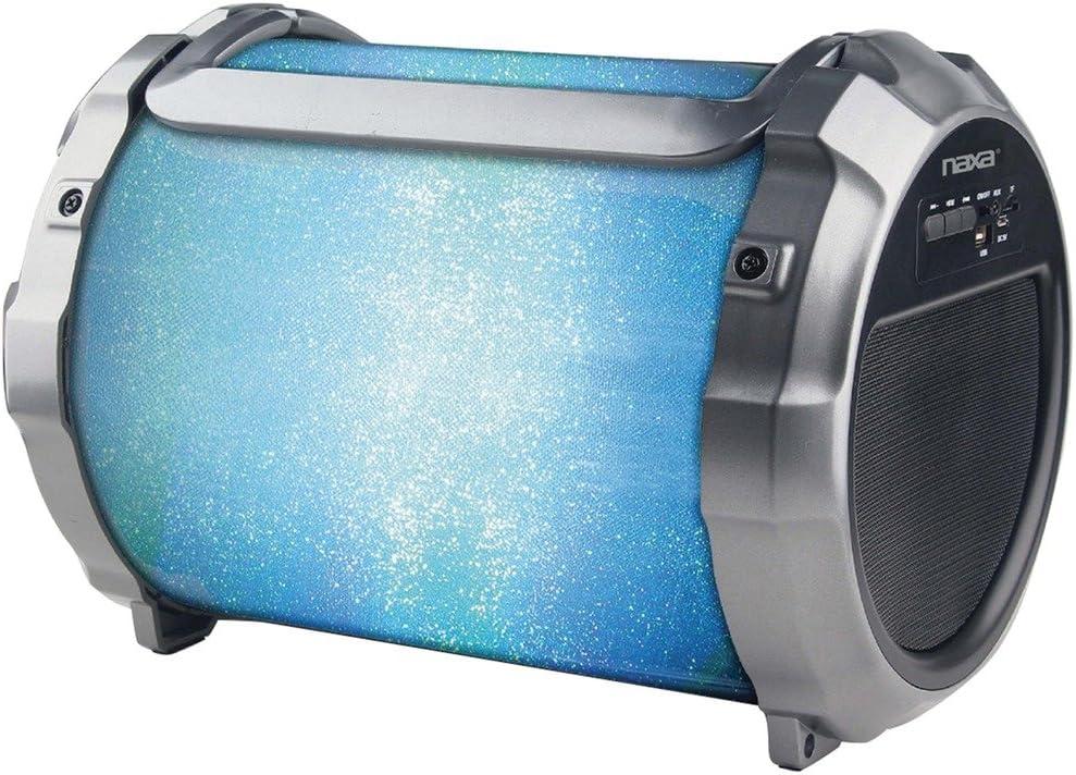 Naxa Electronics NAS-3088 Boomer Impulse Flasher Bluetooth Boombox with LED Lights Black