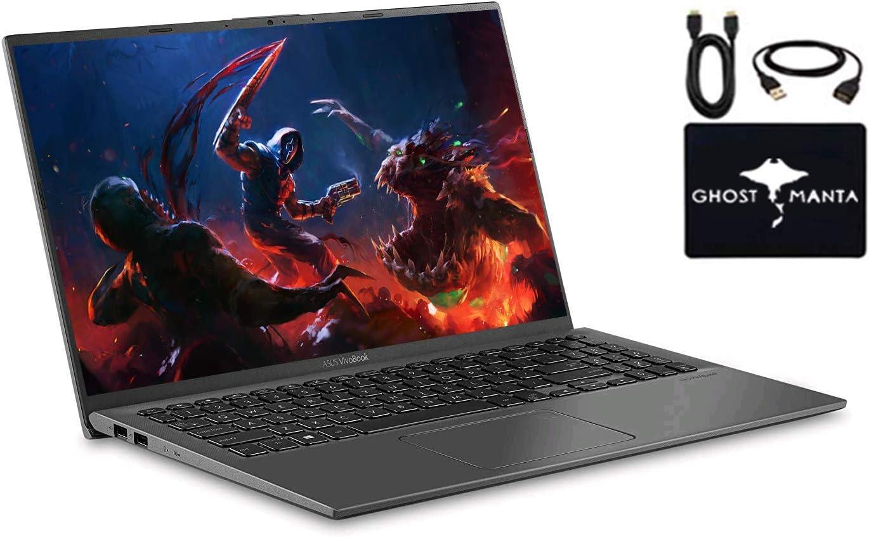 "2020 Newest ASUS VivoBook 15.6"" FHD Thin Light Business Laptop, AMD Ryzen 7 3700U Up to 4.0GHz (Beat i7-7500U) 8GB RAM, 500GB HDD+128GB PCIe SDD, Radeon Vega 10, Fingerprint, Win10, w/GM Accessories"