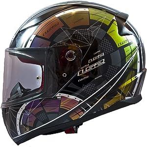 LS2 Helmets Motorcycles & Powersports Helmet's Full Face Rapid Tech 2.0 Chameleon Paint Medium