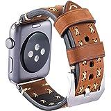 Armband für Apple Watch, Leder Armband Vintage Uhrenarmband für Apple Watch Sport/Edition Series 1, Series 2 und Apple Watch Nike+