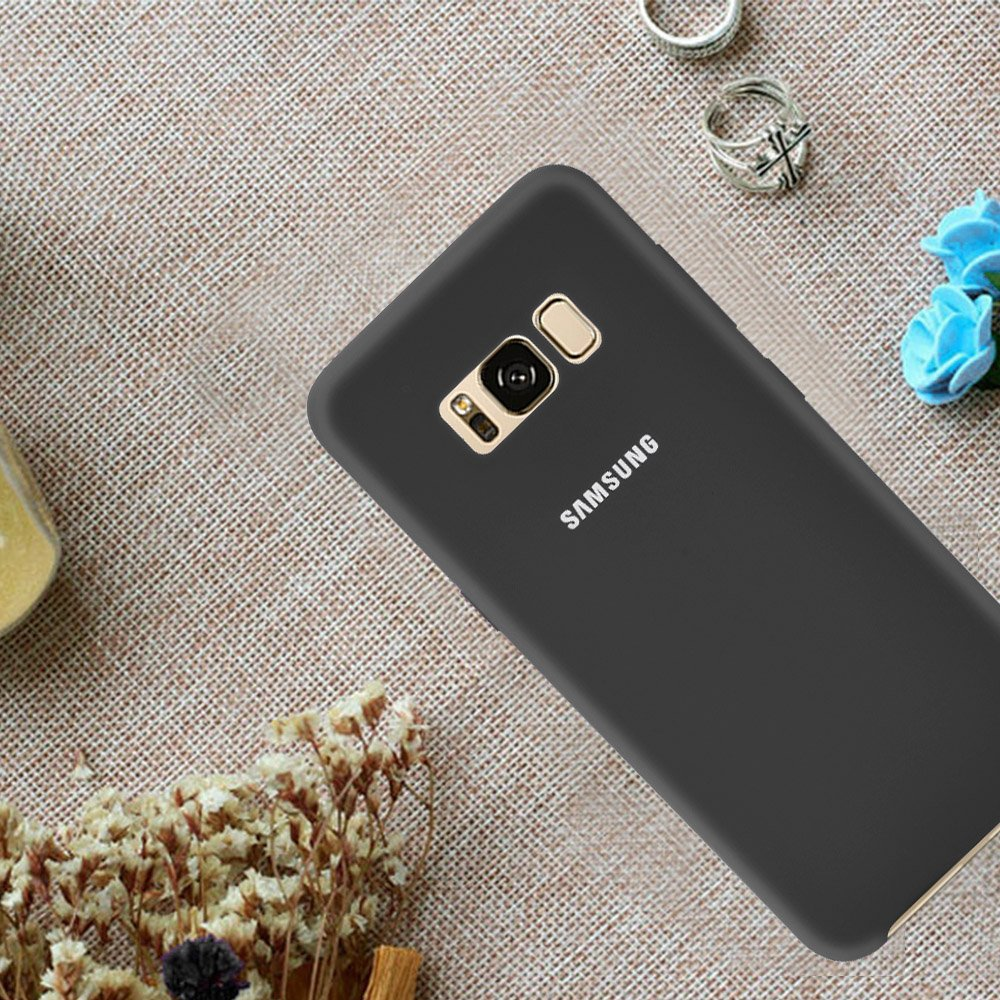 Phone Case for S8,Silicone Gel Rubber Case with Soft Microfiber Cloth Lining Cushion Protective Case for Samsung S8 (Black)
