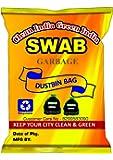Swab Garbage Bags Size Medium 19 Inch X 21 Inch (Black) Pack Of 06(180 Bags)(Trash Bag/Dustbin Bag)