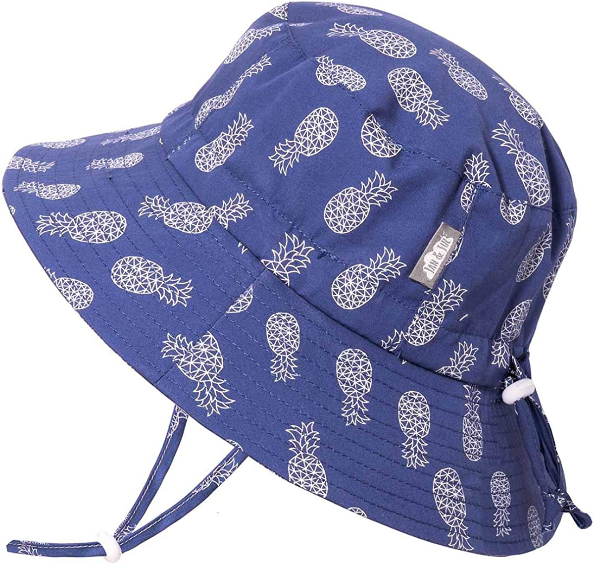 JAN & JUL Boys' GRO-with-Me Adjustable Bucket Sun-Hat, UPF 50+ Breathable Cotton